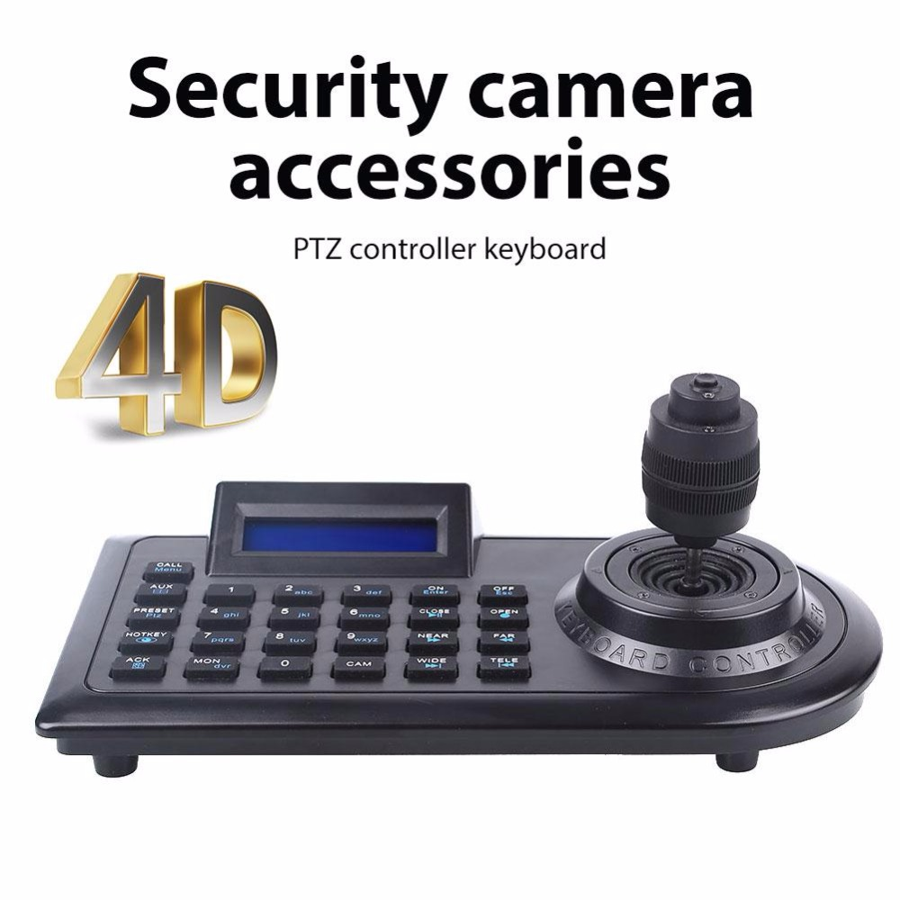 giantree 4D LCD screen Camera Keyboard Controller 4 Axis PTZ Surveillance Camera RJ45 DVR four-dimensional variable speed