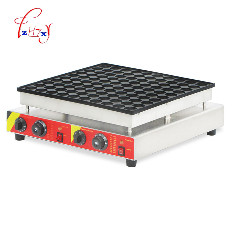 Commercial waffle baker machine Waffle Maker Iron Baker Machine 100 holes stainless steel small muffin machine 220v/110v 1pc 110v 220v electric 4 slice commercial egg waffle maker machine baker iron one plate waffle baker