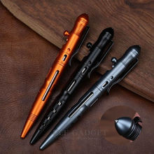 Dropshipping Draagbare Outdoor Zelfverdediging Tactische Pen Met Bout Switch Ontwerp Emergency Glasbreker EDC Tool Gift