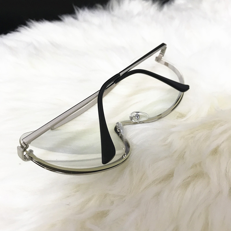 Rimless Gold Clear Sunglasses Men Women Brand Designer Aviator Clear Sunglasses 9