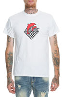 Pink Dolphin Men's Psych Waves T Shirt White Tee Clothing Apparel Tops