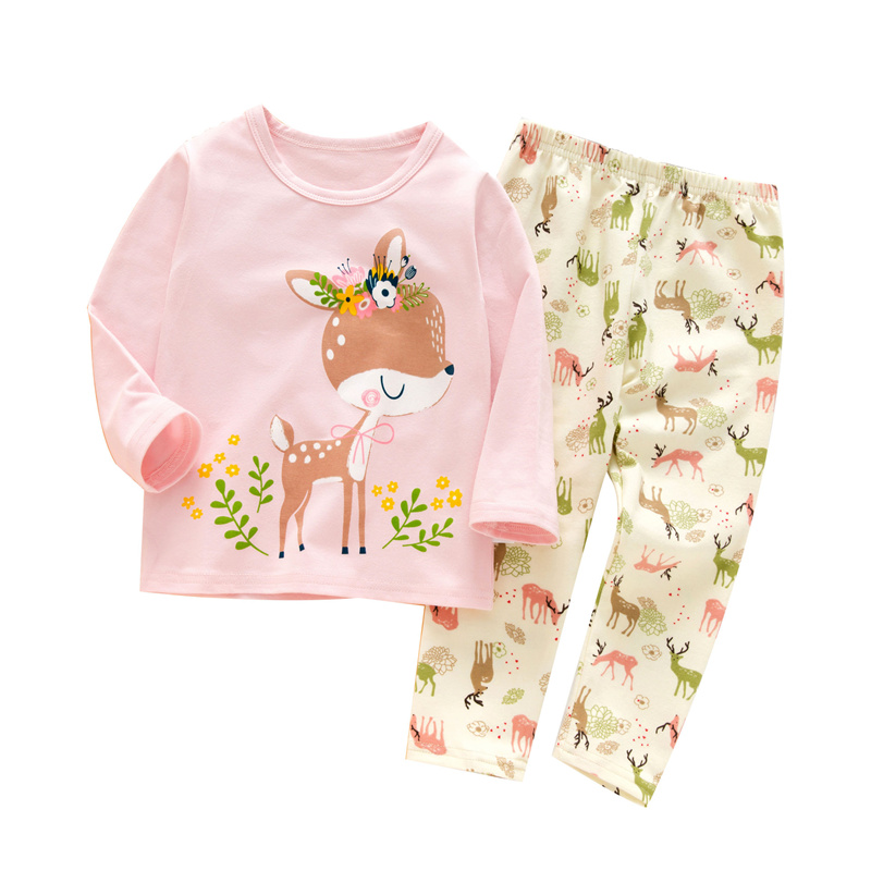 SAILEROAD Baby Girls   Pajamas   Cute Cartoon Giraffe Long Sleeve   Pajamas     Set   Kids Pyjamas Child Cotton Pijama Boys Homewear Clothes