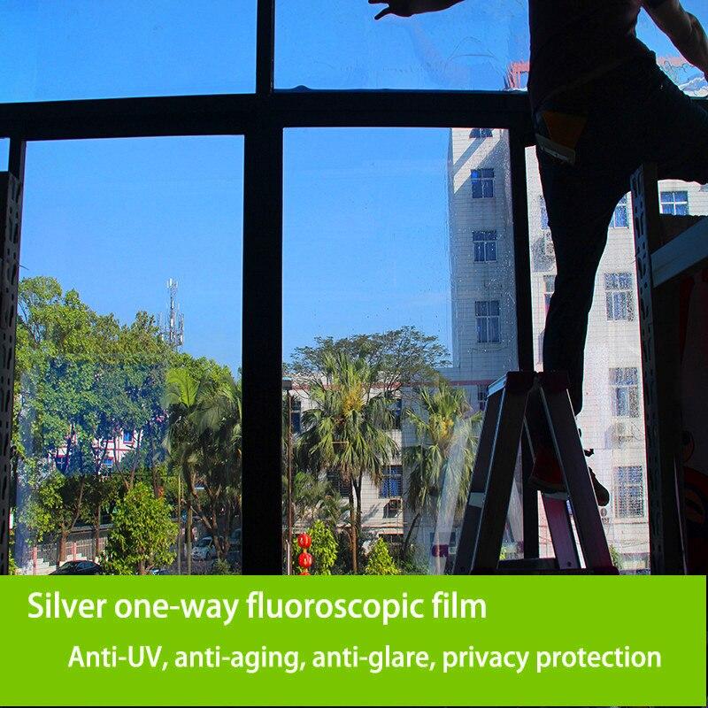 50 Cm Wide One Way Perspective Window Film; Anti UV Anti Office Furniture  Aging Protective Film; Anti Glare Privacy Sticker