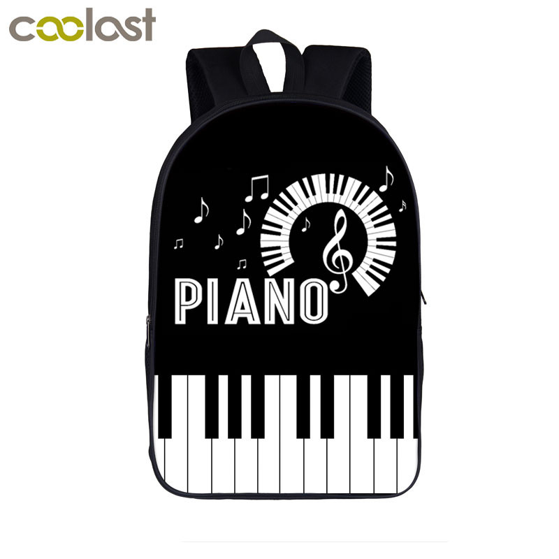 Elegent Music Playing Piano Backpack Women Men Casual Bag Teenager Boys Girls School Bags Students Backpack Children Book Bag