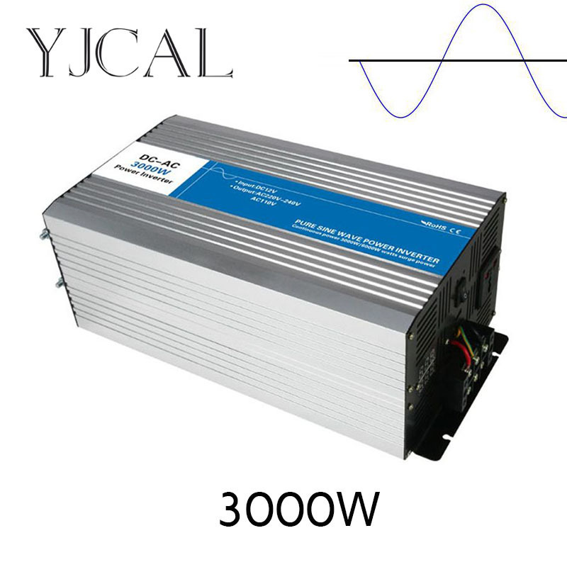 цена на Pure Sine Wave Inverter 3000W Watt DC 12V To AC 220V Home Power Converter Frequency USB Converter Electric Power Supply