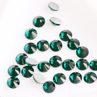 Emerald Hot Fix Rhinestones SS20 Crystal Stones Sewing Button Decoration Dresses Flat Back Rhinestones For Clothes