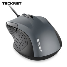 TeckNet Mouse Pro S2 High Performance USB Wired Mouse 6 Buttons 2000DPI Gamer Computer Mouse Ergonomic Mice with Cable Desktop цены