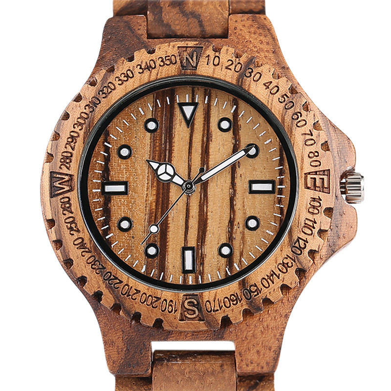 YISUYA Top Brand Luxury Mens Wood Watches Handmade Gear Zebra Full Bamboo Quartz-Watch Male Fold Over Clasp Clock in Gift Bag yisuya luxury wooden watches for men vintage analog quartz handmade walnut zebra bamboo wood band wristwatch clock gifts reloj