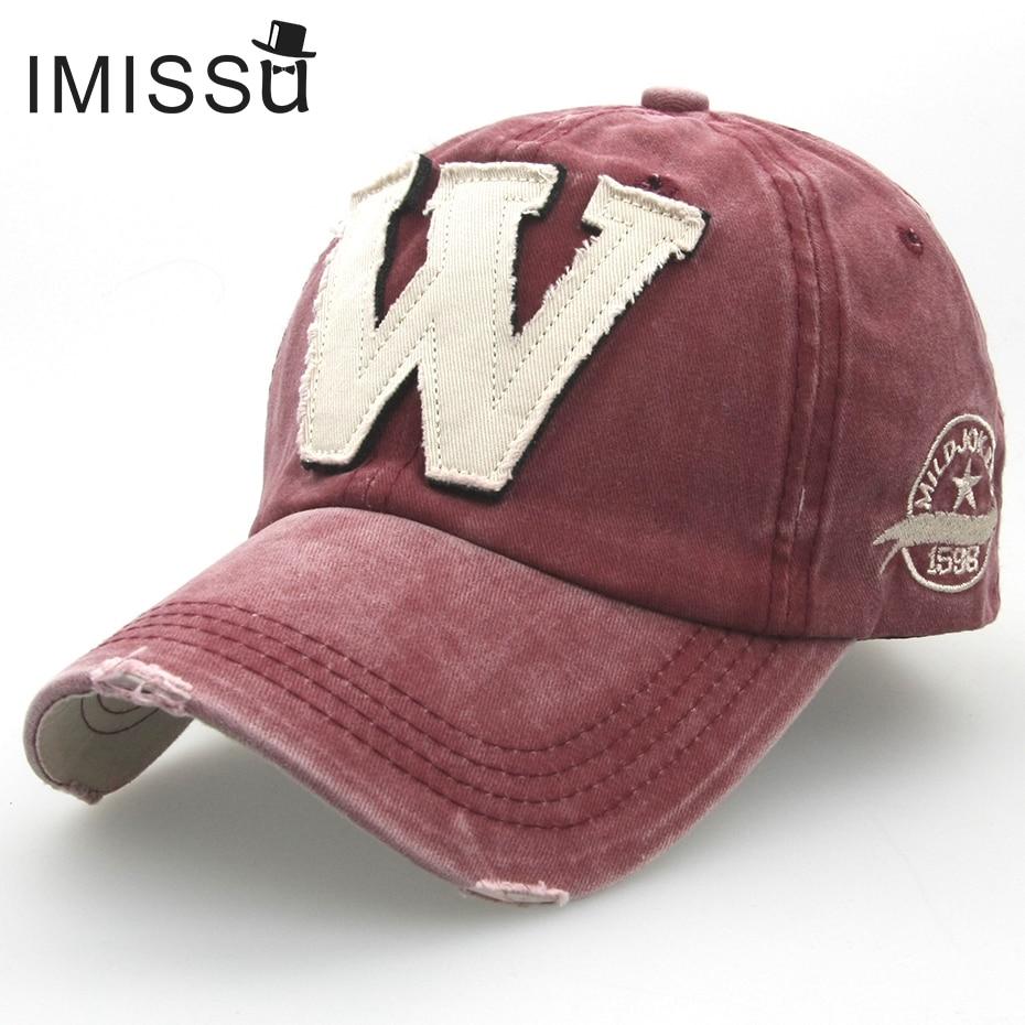 Prix pour IMISSU Lettre W Casquette de baseball Réglable Chapeau De Mode Casual Chapeau Gorras Hip Hop Papa Chapeau Snapback Caps