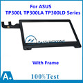 New 13.3'' inch Touch Screen Panel + Frame For ASUS Transformer Book TP300L TP300LA TP300LD Series Digitizer Glass Replacement