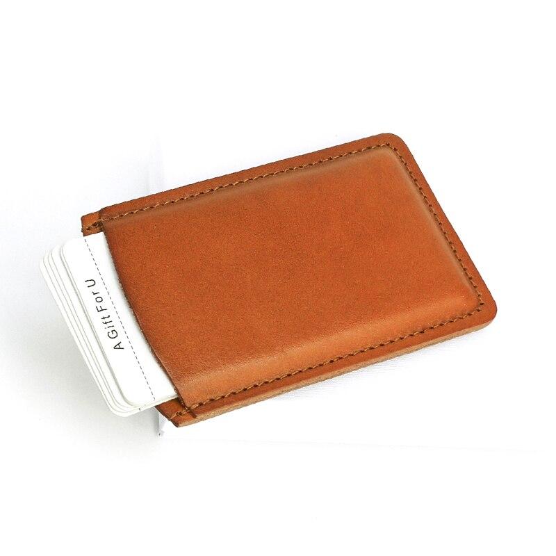 Business card holders Slim men name card case famous brand genuine ...