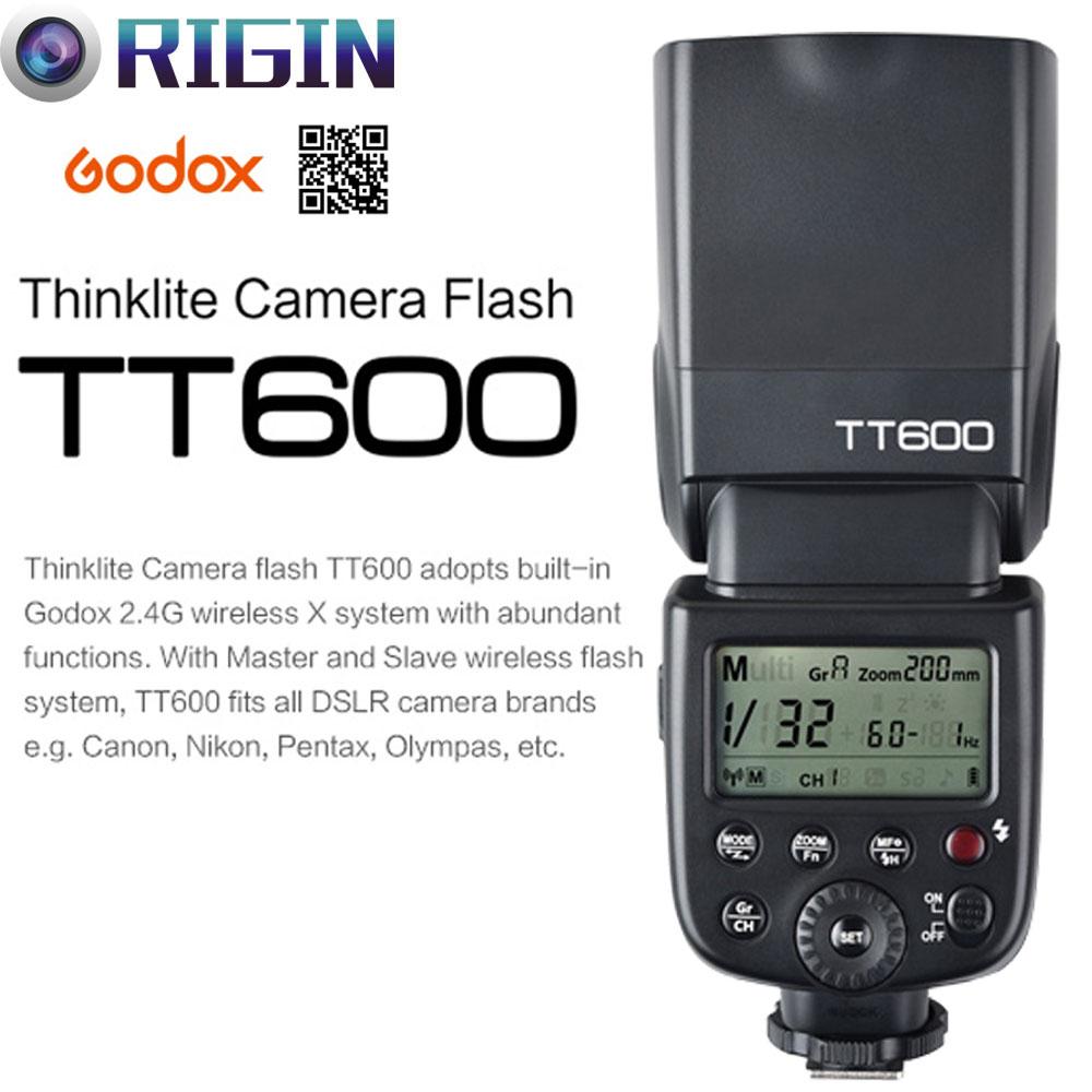 Godox TT600/TT600S GN60 HSS 1/8000s Camera Flash Speedlite 2.4G Wireless X System 0.1~2.6s recycle time For Canon/Nikon/Sony gletcher tt