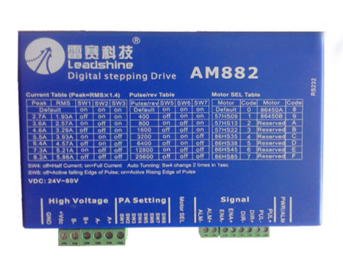 Leadshine DC 80V 8.2A AM882 Digital Stepper Drive Stepper Motor Driver With Protection Function leadshine am882 stepper drive stepping motor driver 80v 8 2a with sensorless detection