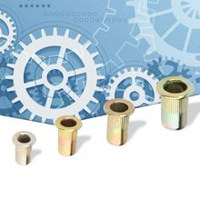200Pcs M3/M4/M5/M6 Rivet Nut Rivnut Carbon Steel Flat Threaded Flange Nuts Woodworking Hardware