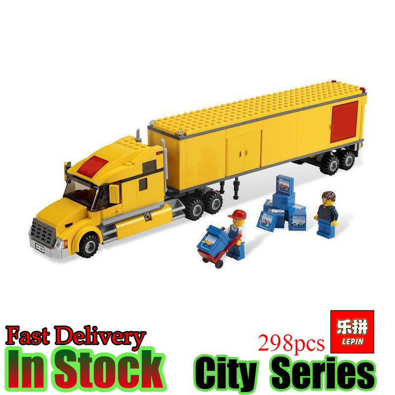 Lepin 02036 298Pcs truck series Educational Building Block Bricks Model Compatible 3221 Toys For Children Gift lepin 22001 pirate ship imperial warships model building block briks toys gift 1717pcs compatible legoed 10210
