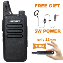 AIRFREE AP-100 UHF 400-470 MHz long range Two Way Radio professional MINI handheld transceiver KD-C1 Walkie Talkie