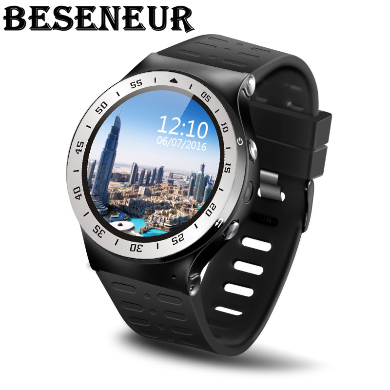 Beseneur S99A Smart Watch GSM 3G Network Android 5.1 8G ROM Support GPS WiFi 5.0MP Camera Step Heart Rate Smartwatch for phone new s99a gsm 3g wcdma quad core android 5 1 8g rom smart watch gps wifi 5 0mp camera pedometer heart rate smartwatch for phone