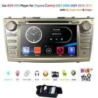 Авторадио 8 2 Дин DVD Мультимедиа USB SWC B для Toyota Camry 2007 2008 2009 2010 2011 Aurion 2006 Штатная gps стерео аудио