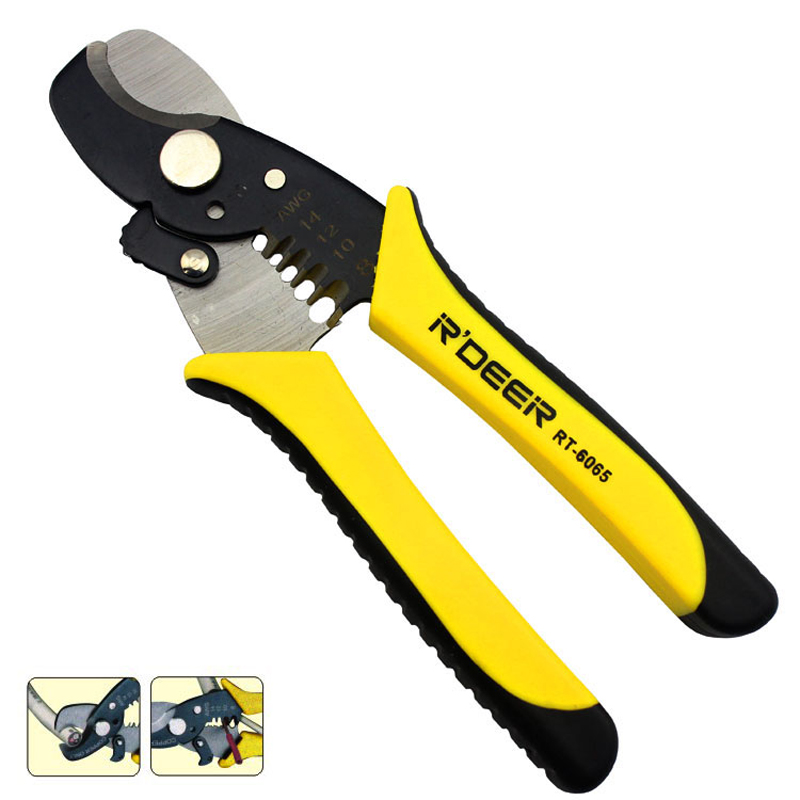 AWG14 10 Multi Tool Wire Stripper Pliers Cable Cutting Scissor Wire ...