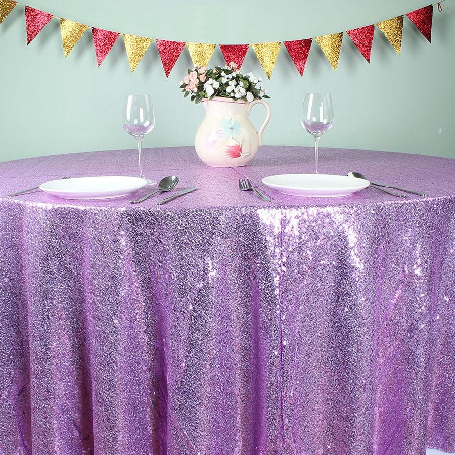 Light Purple 108 Quot Round Glitz Sequin Tablecloths Banquet