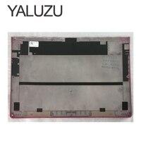 YALUZU New Laptop Bottom Base Case Cover For Lenovo YOGA 3 pro 1370 lower case rose Red Bottom Chassis