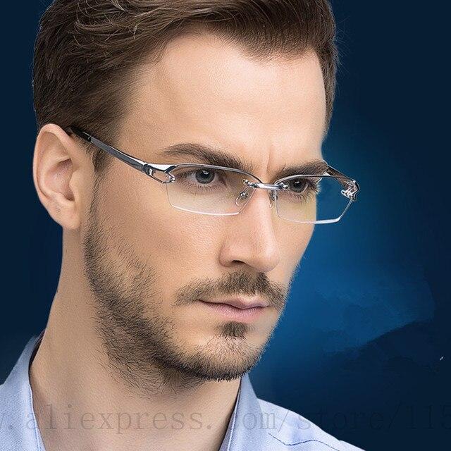 Rimless Eyeglasses 2017 : 2017 Fashion Pure Titanium rimless eyeglasses frame Brand ...