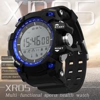 Mannen XR05 Digitale Smart Horloge NR 1 f2 Gezondheid Sport Smartwatch Waterdichte Stappenteller Calorieën Teller Pols Kids Klok voor Android