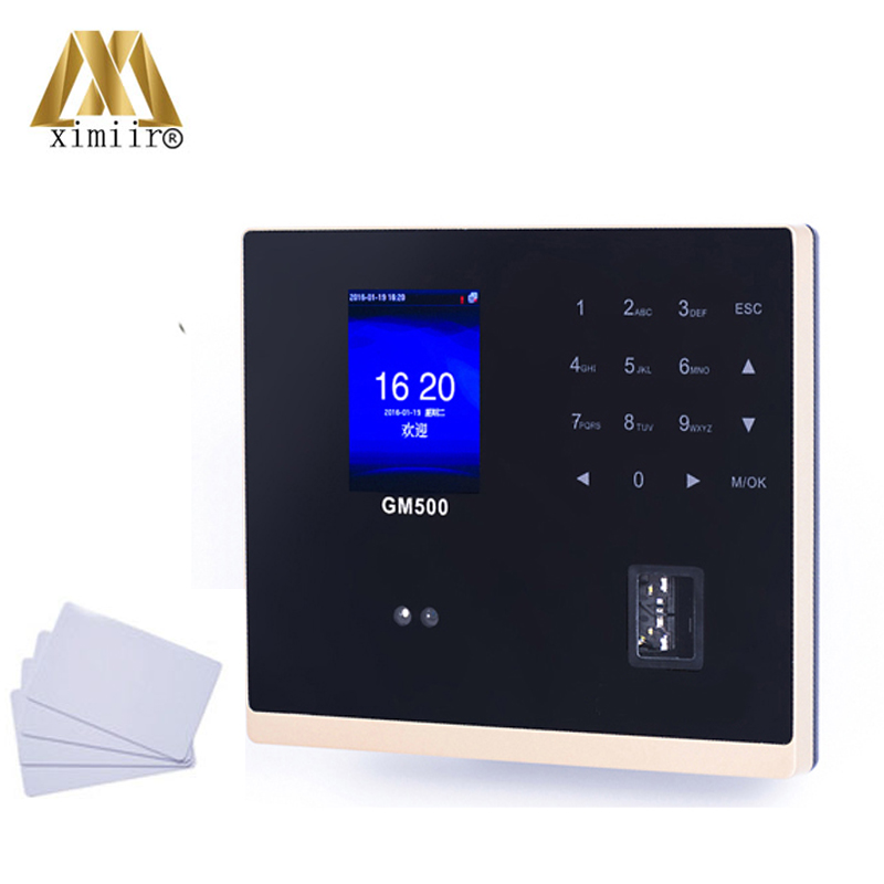 TCP/IP Face Recognition Time Attendance And Access Control GM500 Face And Fingerprint Time Clock With IC Card Reader