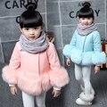 2 - 3 crianças outerwear 4 criança do sexo feminino inverno espessamento 5 6 8 de algodão acolchoado jaqueta de 10 pele amassado jaqueta 12