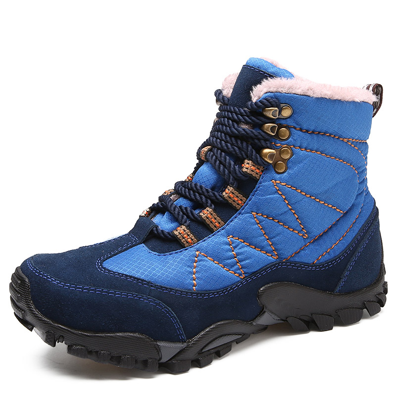 Waterproof Hiking Shoes Men Women Outdoor Leather Hiking Sneaker Non-slip Mountain Climbing Fishing Shoes Winter Warm Snow BootsWaterproof Hiking Shoes Men Women Outdoor Leather Hiking Sneaker Non-slip Mountain Climbing Fishing Shoes Winter Warm Snow Boots