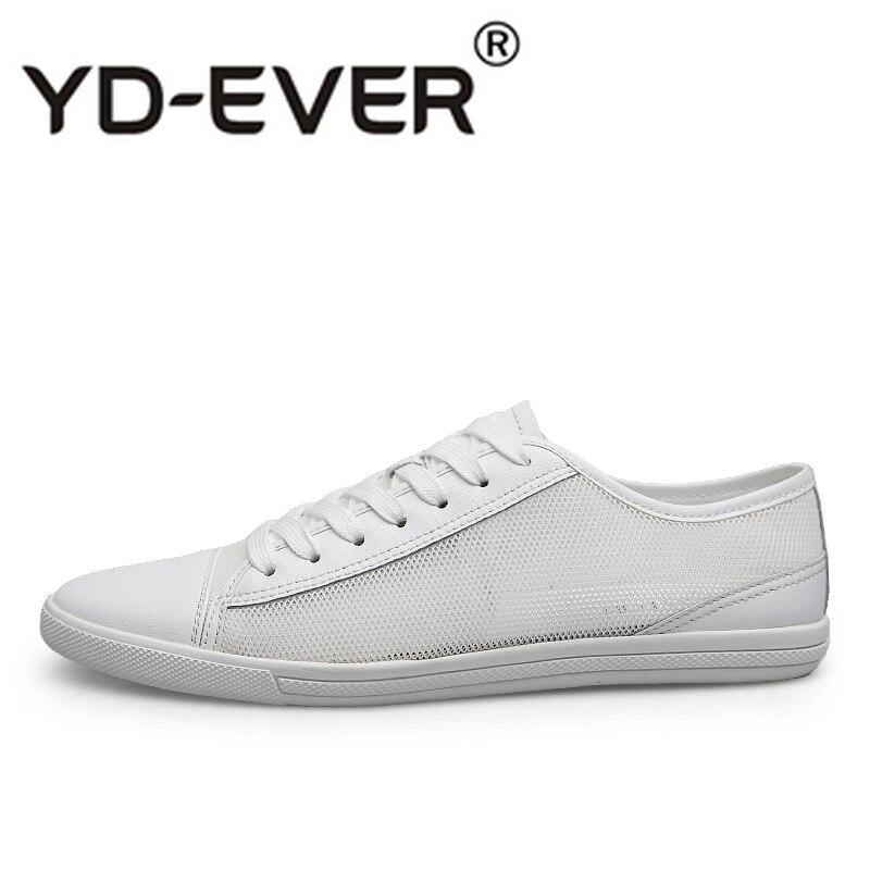 Moda Black Masculina Lace Respirável Preto Men White Size Plus Dos Tenis branco Flats Casuais Homens Calçados Clássicos Couro Masculino Up Krasovki YvqSXwn