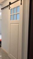 Деревянная раздвижная дверь, сарай, железная дорога, оборудование для дверей сарая, подвесной Американский комплект для раздвижных дверей,