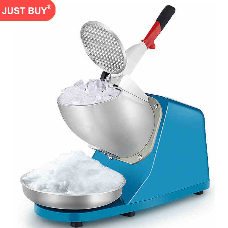 ElectricCommercial aço inoxidável Triturador de Gelo Ice Shaver Smoothie Comercial DIY Ice Cream Maker para Café Do Hotel