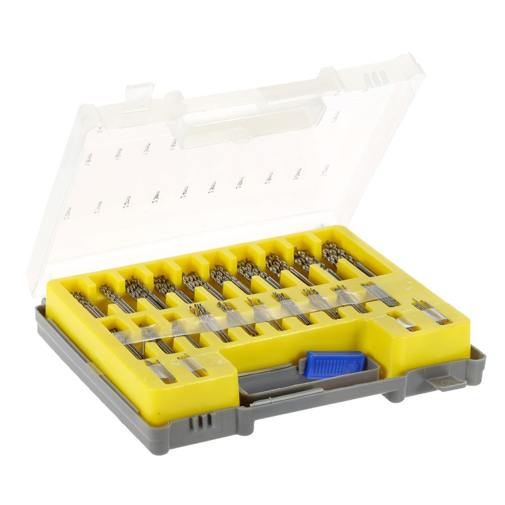 150pcs/set Mini Tools HSS Twist Drill Set High Speed Steel Ferramentas Saw Bits Set with Storage Case Metric System 0.4-3.2mm