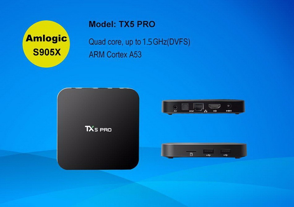 Tanix TX5 Pro Amlogic S905X Android 6.0 TV Box 1.5GHz 2G-16G KODI Smart TV 6