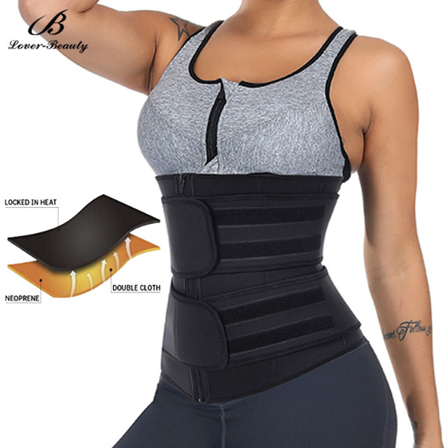 Lover Beauty Neoprene Waist Trainer Girdles Sweat Sauna Body Shapers Slimming Waist Shaper Fitness Double Modeling Belt Faja 1