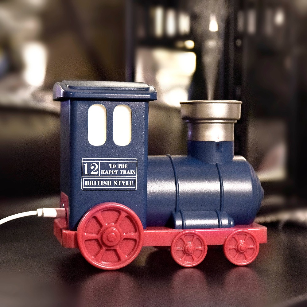 Mini Usb Train Humidifier Led Essential Oil Aroma Diffuser Mist Maker Aromatherapy Air Purifier Home Decor Hot Sell humidifier essential oil diffuser portable home woodgrain grain aroma cool mist mini humidifier maker aromatherapy air purifier
