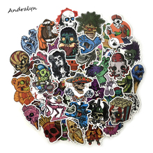 50 Pcs Set Horror Stickers for Luggage Laptop Skateboard Bicycle Motorcycle Toy Car Styling Decals Terror
