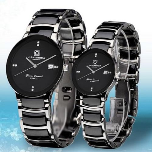Lovers Watch Ultra-thin Ceramic Steel Waterproof Army Diving Sports Rhinestone Dress Quartz Watches Fashion Casual Luxury Brand