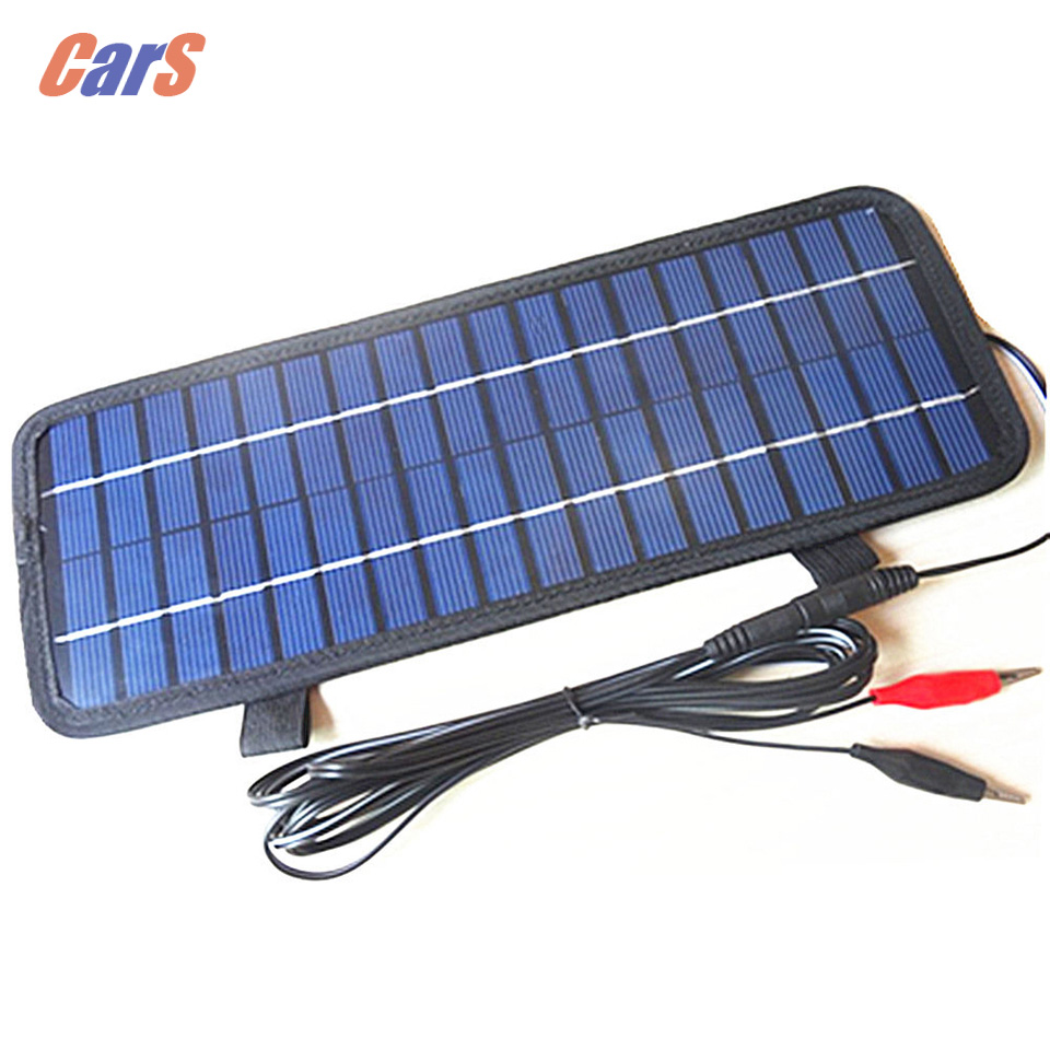 Blue 4.5W <font><b>12V</b></font> Solar <font><b>Car</b></font> <font><b>Charger</b></font> <font><b>Car</b></font> Battery Power <font><b>Charger</b></font> Panel <font><b>Charger</b></font> <font><b>Cigarette</b></font> Lighter Plug for Boat Motorcycle Vehicle image