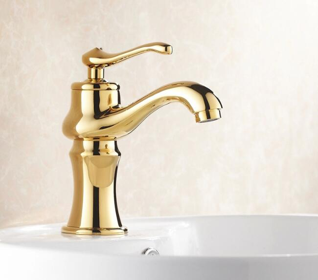 Vidric European style golden faucets Bathroom Basin Sink mixer tap cold and hot water faucet Gold Polished Brass FaucetVidric European style golden faucets Bathroom Basin Sink mixer tap cold and hot water faucet Gold Polished Brass Faucet