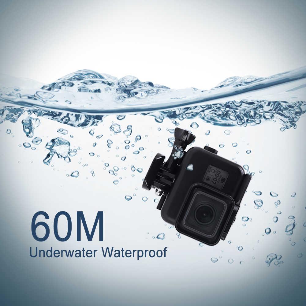 60 متر الغوص مقاوم للماء الحال بالنسبة GoPro بطل 7 6 5 أسود عمل كاميرا تحت الماء الإسكان الحال بالنسبة الذهاب برو بطل 6 5 ملحق
