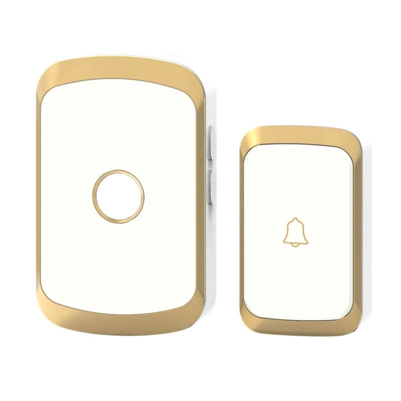 JXSFLYE newest Waterproof Wireless Doorbell 36 rings 3 volume door chime 300M remote digital door bell EU US UK plug in Building Automation from Security Protection