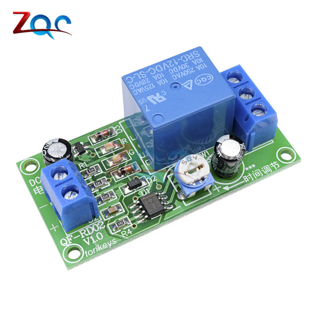US $1 24 7% OFF|DC 12V Conduction NE555 Delay Timer Switch Adjustable Time  Delay Relay Module AC 250V 10A DC 30V Connect Module-in Relays from Home