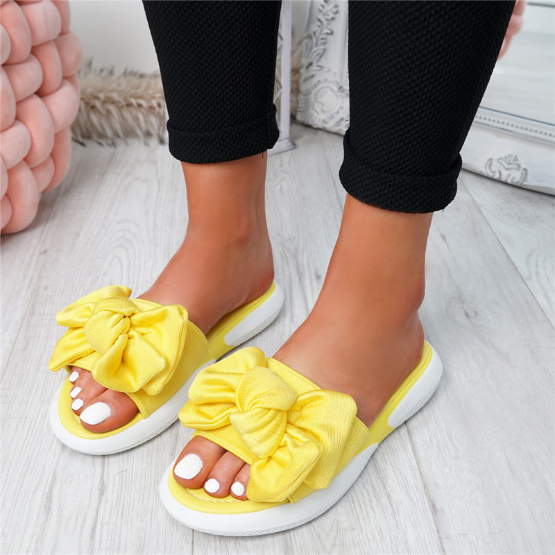 2019 New Fashion Women Silppers Ladies Bow Flats Sandals Slip On Sliders Peep Toe Casual Shoes Female Comfort Shoes Plus Size2019 New Fashion Women Silppers Ladies Bow Flats Sandals Slip On Sliders Peep Toe Casual Shoes Female Comfort Shoes Plus Size