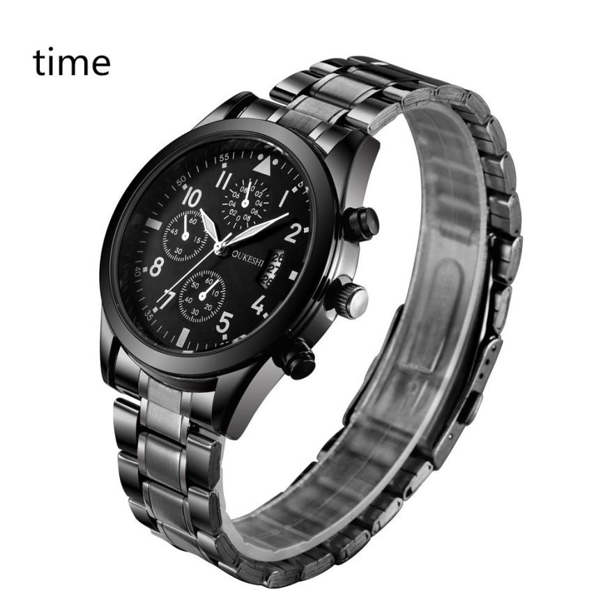 #5001 Leisure High Quality Woman Watch Fashion Men Crystal Stainless Steel Analog Quartz Wrist Watch Bracelet high quality outdoor sports leisure fashion men watches multi functional quartz wrist watch creative