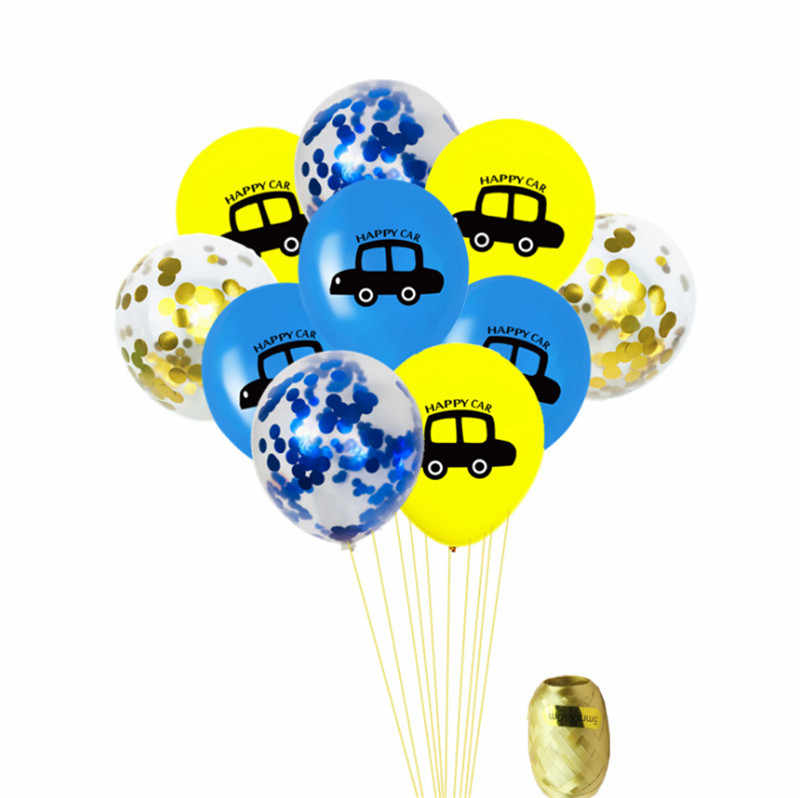 Taoqueen หมวกการ์ตูนรถลูกโป่ง Multicolor Confetti บอลลูนงานแต่งงานบอลลูนวันเกิดตกแต่ง