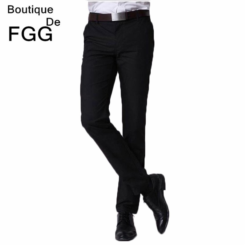 c2cd0b2b US $23.28 |Size 29 40 Easy Care Black Straight Casual Business Pants Men  Office Pants Brand Formal Pants Mens Wedding Trousers-in Suit Pants from ...