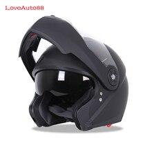 Modular Capacete Da Motocicleta capacetes de Segurança capacete de Corrida Rosto cheio Profissional Lente Dupla Capacete Da Motocicleta Unisex Disponível