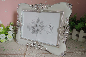 20pcs Vintage Luxury Baroque Style Gold Silver Desktop Frame Photo Frame Gift for Friend Family lin4043